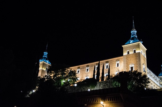 Alcázar de Toledo de noche