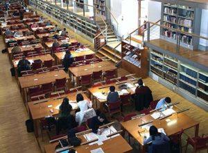 La Biblioteca situada en el Alcázar de Toledo